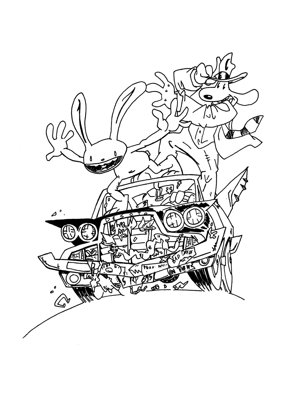 Fan-art de Sam & Max par Steve Purcell