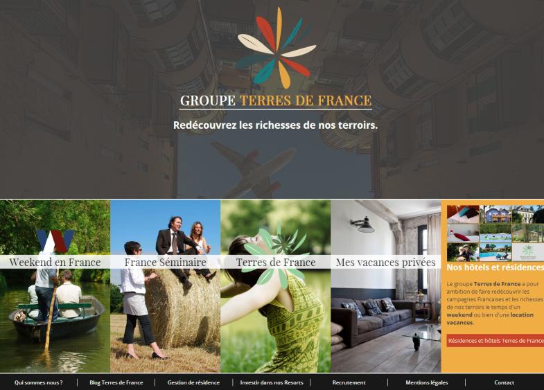 Screenshot du site Groupe Terres de France