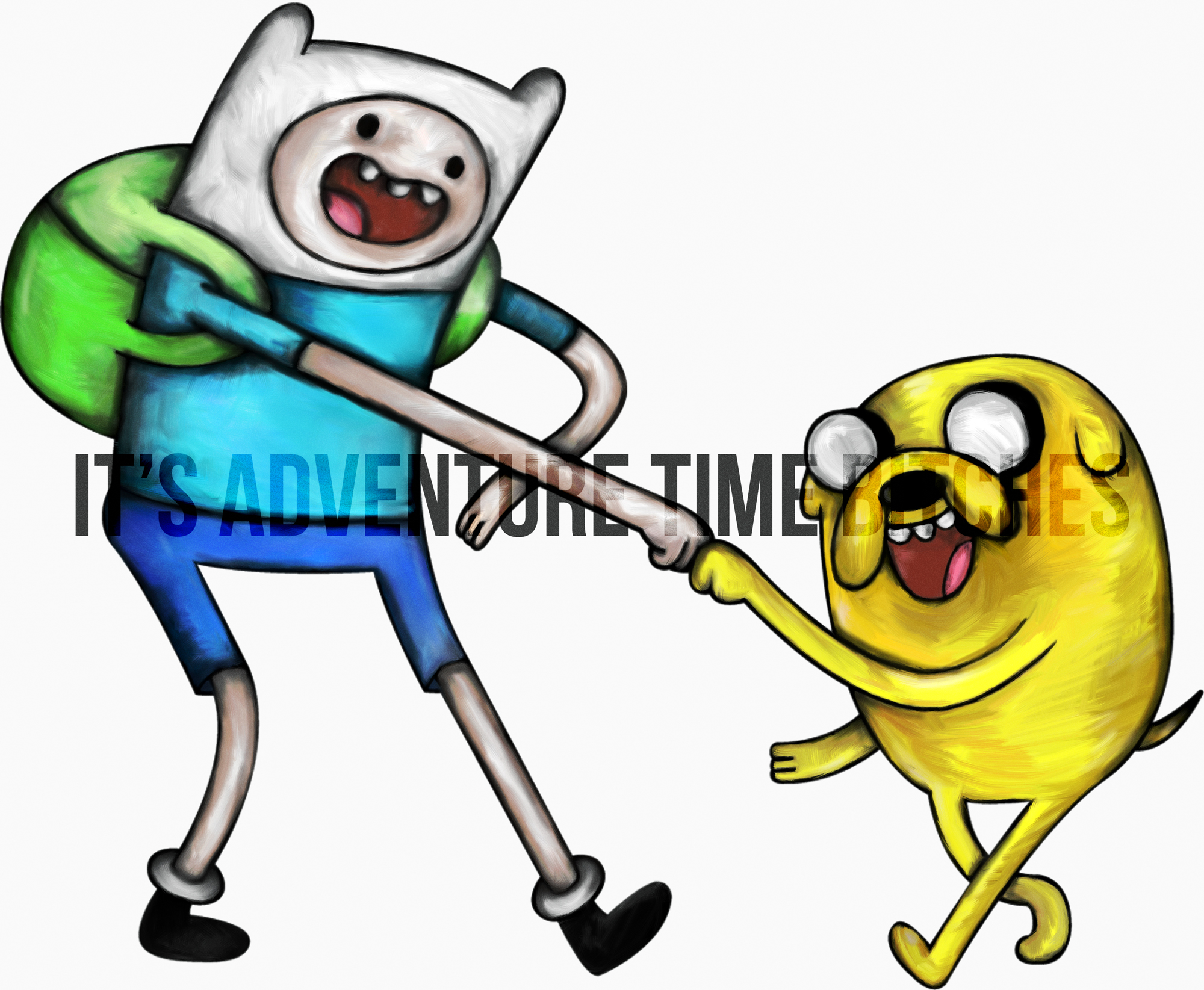 Finn and Jake from Adventure Jake