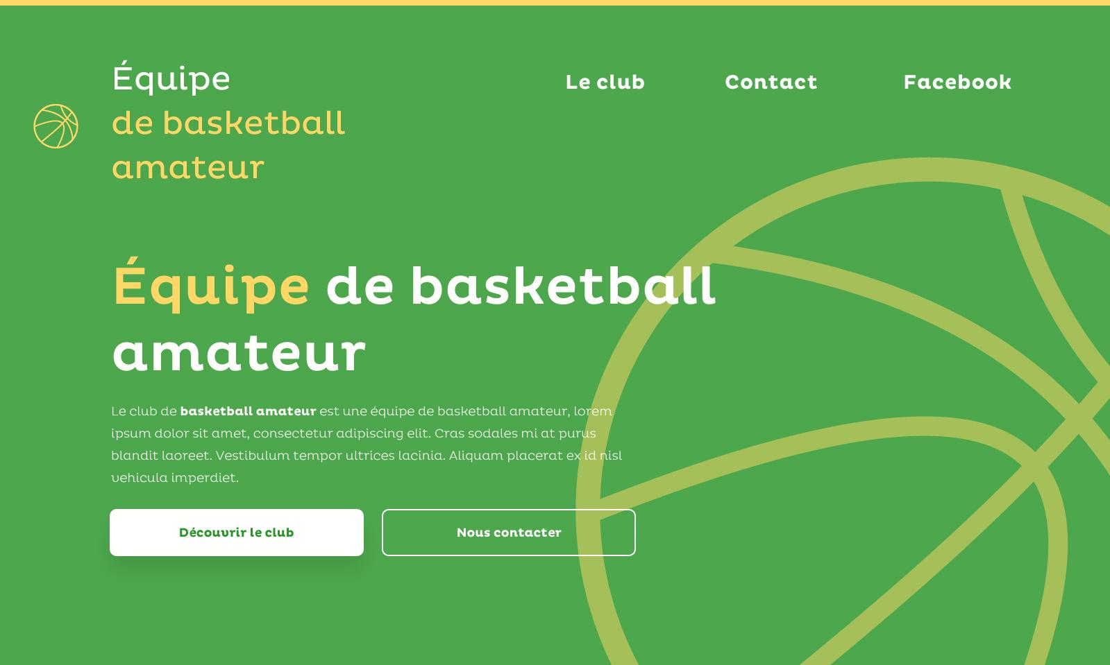 Équipe de basketball amateur